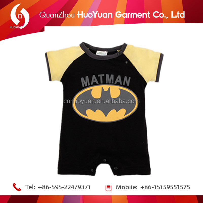 2016 huoyuan baby boy clothes jumpsuit carters