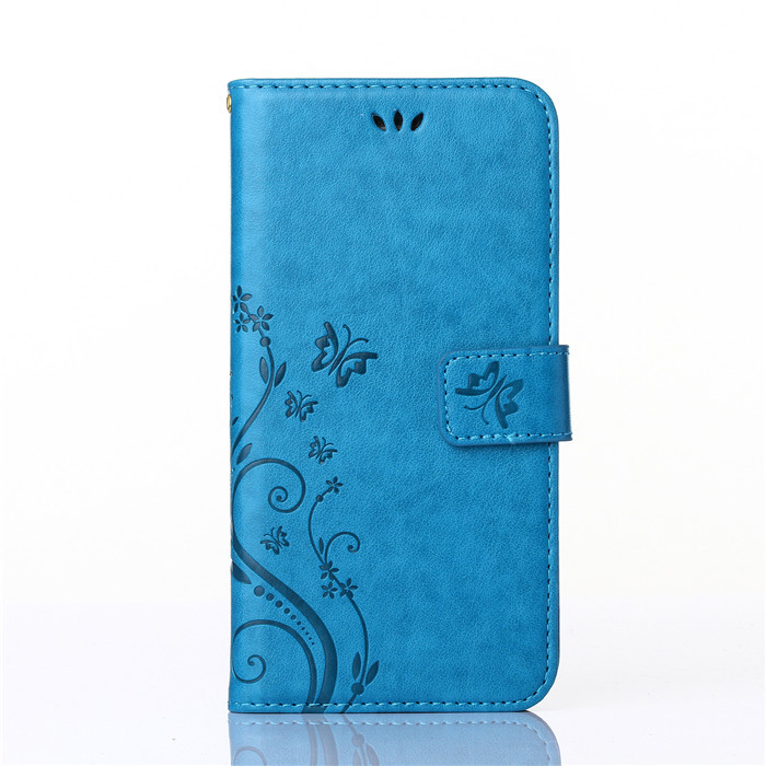 Wholesale Emboss Butterfly Leather Flip Wallet Phone Case for iPhone 7, Many Models Available