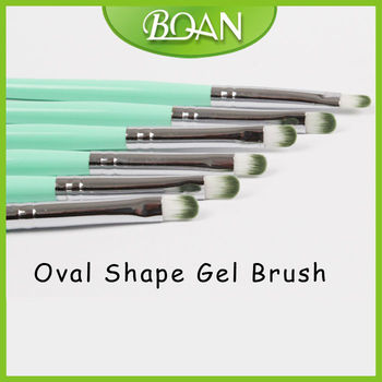 Boqian Factory Direct Oval Shape Nylon Hair French Nail Brush