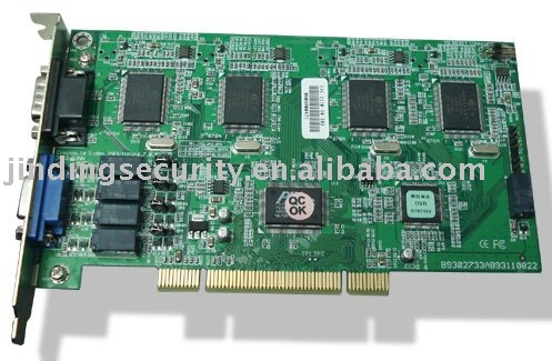 (JD-6004LN) 4 Channels Linux DVR Card