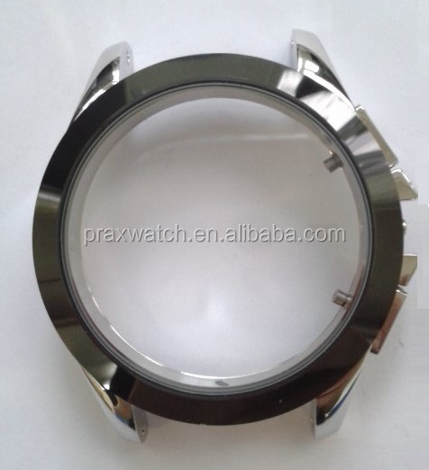 round wrist watch case parts waterproof stainless steel case back