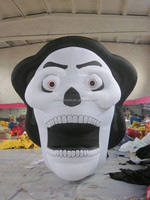 customized new design inflatable wholesale halloween skull for decoration