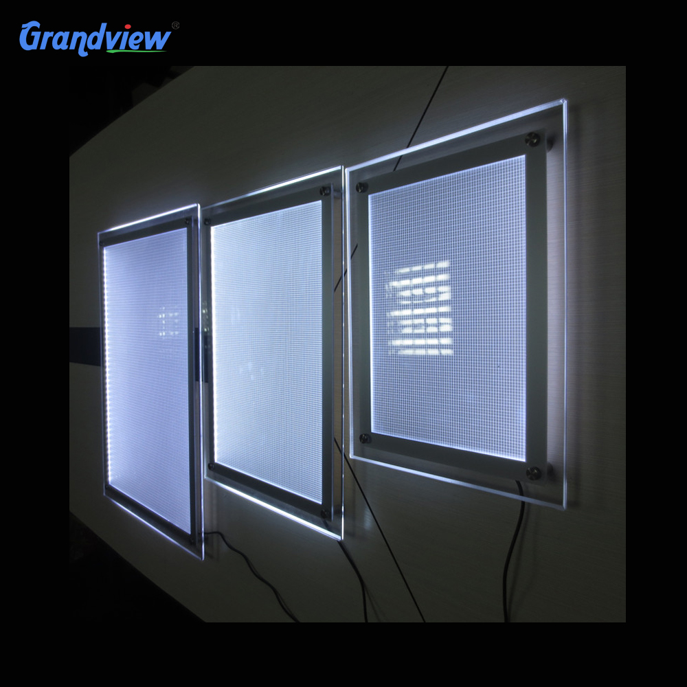 Slim photo display <strong>Led</strong> lighted light box crystal A1 picture <strong>frames</strong>