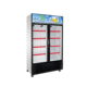 Professional Kitchen Equipment Two Doors Glass Refrigeration Showcase Display Fridge Refrigerator