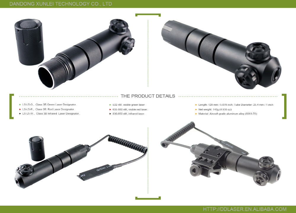 Waterproof Rifle Tactical Green Laser Pointer