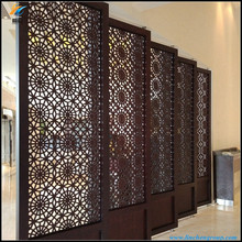 cheap custom teak room divider for decoration