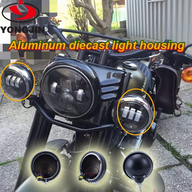 Motorcycle accessories 4.5 inch auxiliary light housing for harley davidson