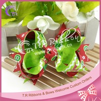 Christmas boutique bows for girls hair accessories, ribbon hair bows