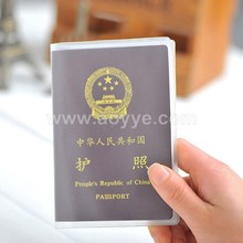 Wholesale travel accessories passport cover waterproof transparent frosted ID card holder bags protective sleeve for business