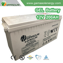 Gama Solar rechargeable storage battery GEL 12v 200ah battery