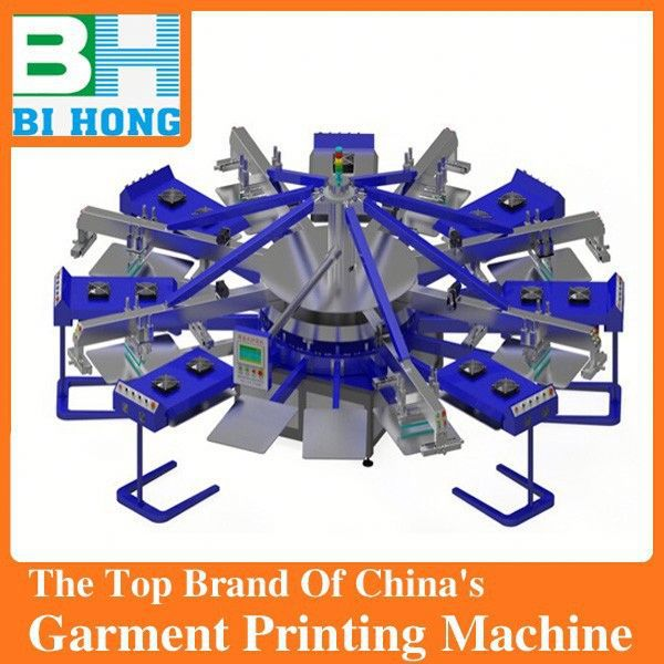 Factory selling 4 color 4 station cheap manual silk screen printing machine for t shirt