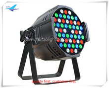 Single color mixing lighting 54x3w rgbw quad color led par 64, led par 54x3