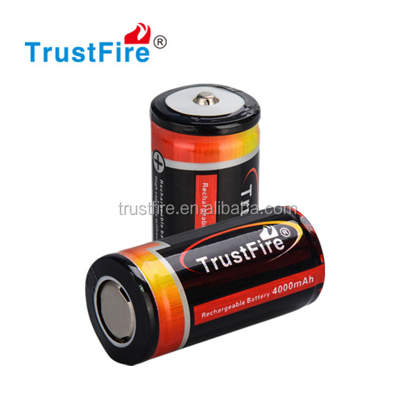 Trustfire 25500 3.7V 4000mAh rechargeable used car battery e-cigarette battery wholesale china
