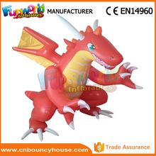 Red and white giant advertising inflatable dragon for promotion