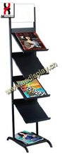 4 levels information rack Display/commercial catalogue display stand for show/magazine Display holder