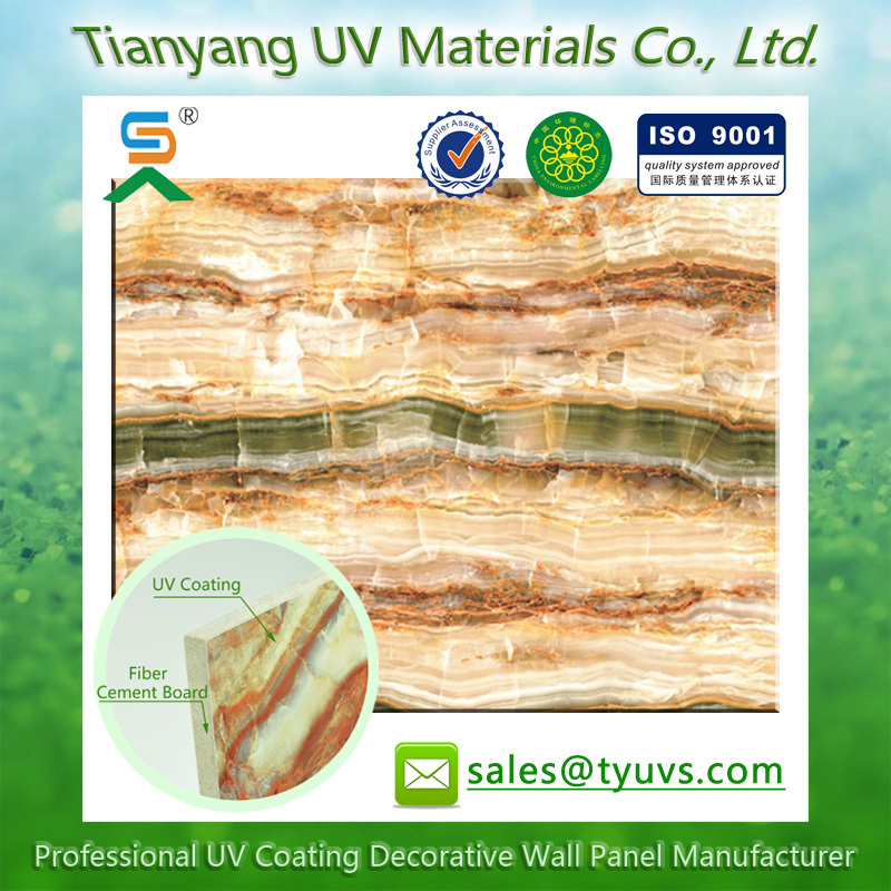 Uv Coating Calcium Silicate Waterproofing Fake Cheap Wall Panel UV decor fiber cement board