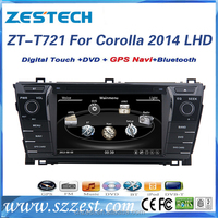 shenzhen Car Sat Navi headunit for toyota COROLLA LHD 2014 2015 with dvd gps navigation radio BT TV multimedia