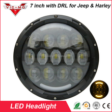 "Hot DOT EMC 105W 7 inch round led headlamp DRL Turning Light 7"" LED Headlight for Jeep Wrangler"