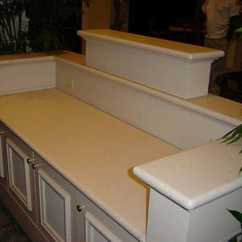Newest Arrival Commercial White Bathroom Countertop With Built In Sink Buy Bathroom
