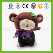 2016 promotional 15cm soft small teddy bear doll for baby