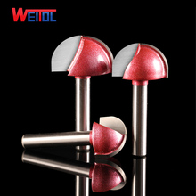 WeiTol round table cutter slotting corner rounding end mill tools cnc cutting tools 3D Ronud Bottom Engraving Bit
