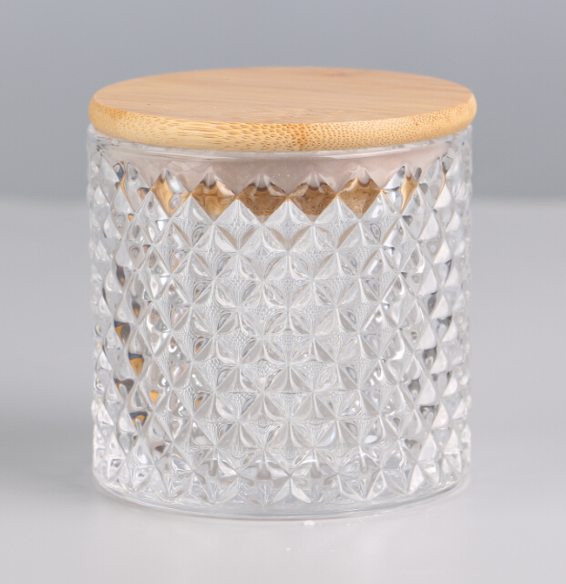 Popular glass candle jars with decorative lids