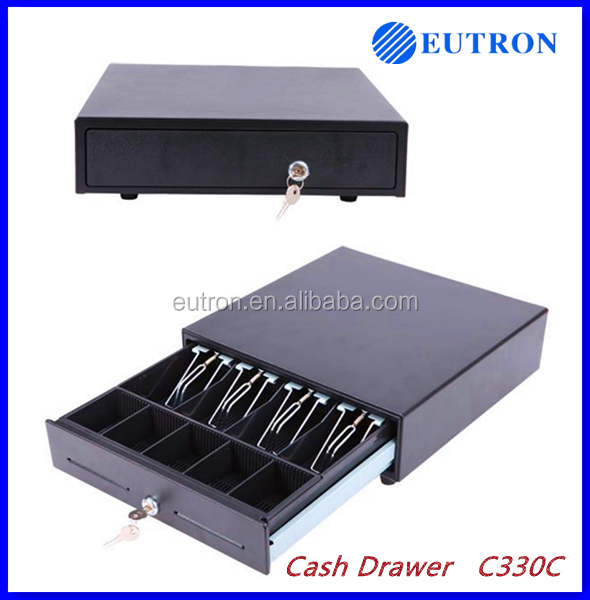 High quality metal electronic cash drawer for POS terminal with 3 position keys