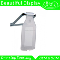 28*50mm Clear Plastic Euro Hook EPOS Swing Tag Price Ticket Holder