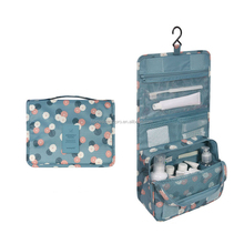Washable convenient carrying foldable hanging toiletry storage bag