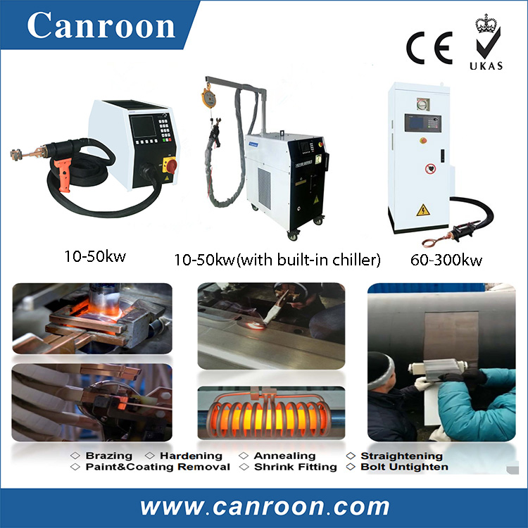 Canroon low price IGBT high frequency induction heating equipment induction brazing machine for metal heat treatment