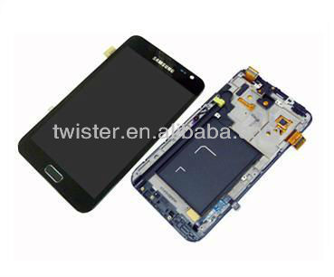 For Touch screen+display Sam Galaxy Note II N7100 black A+