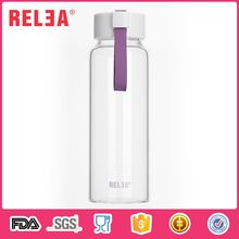 475ml single wall glass drinking water bottle