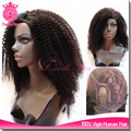 long hair afro kinky invisible part wig remy human hair u part wig