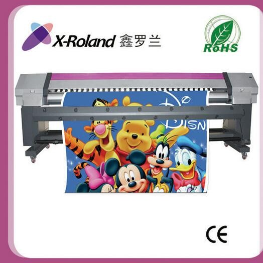 New 3.2m outdoor digital flex banner printing machine price , X-roland dx7 printhead eco solvent printer