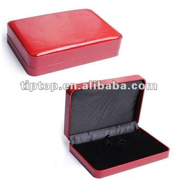 Flat Red leather jewelry box View jewelry boxes colors TipTop