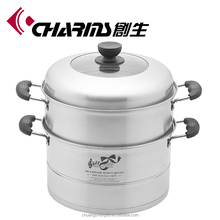Charms induction food warmer stainless steel steamer pot food steamer