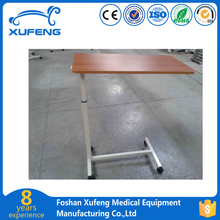 Movable patient dining table, hospital over bed table