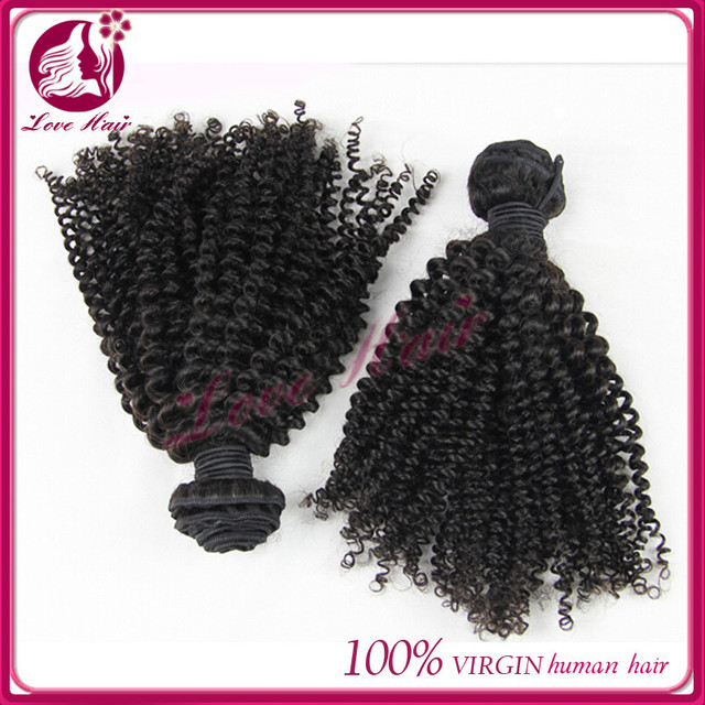 peruvian virgin hair kinky curly afro curl weft low luster soft and lasting accept small order from qingdao lovehair