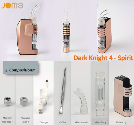Dark Knight Spirit Jomo Best Design Wax Vaporizer E-cig New Wax Vapors in 2016