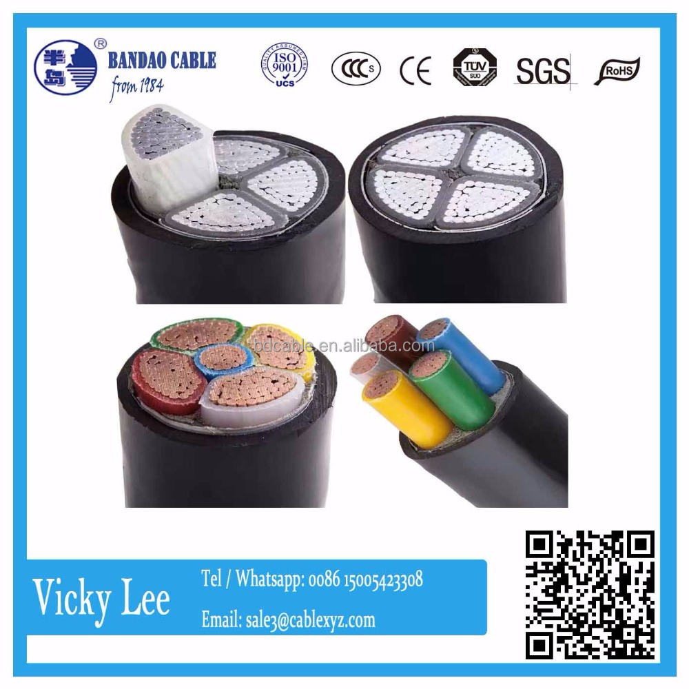 Low Voltage 0.6/1kv Copper Conductor Xlpe Insulation Pvc Sheath 35mm Electric Cable