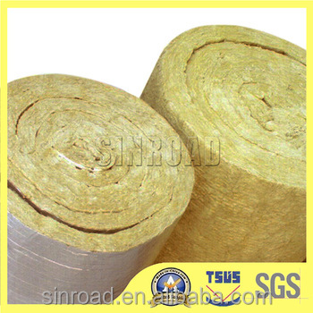 CE & ASTM Heat Insulation 80kg/m3 Rock Wool Blanket / Roll / Felt / Tape Fireproof Insulation