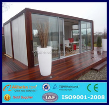 prefab luxury wood cladding container homes 20ft for sale