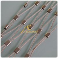 Stainless steel wire rope zoo mesh for protection or decoration