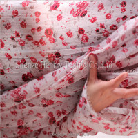 Chiffon cloth Small broken flower georgette cloth cloth tail goods