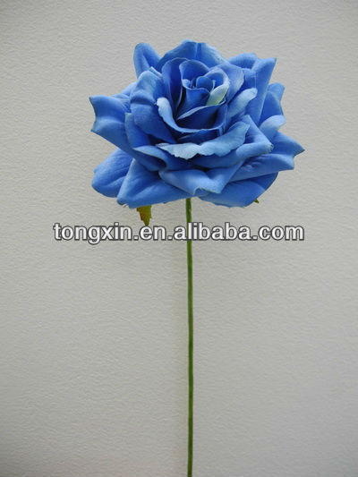 27271ML36 craft artificial floral velvet blume single flower with plastic stem crafts ribbon flowers