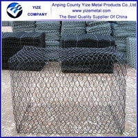 Galvanized river bank protect gabion baskets/gabion box/Reno mattress