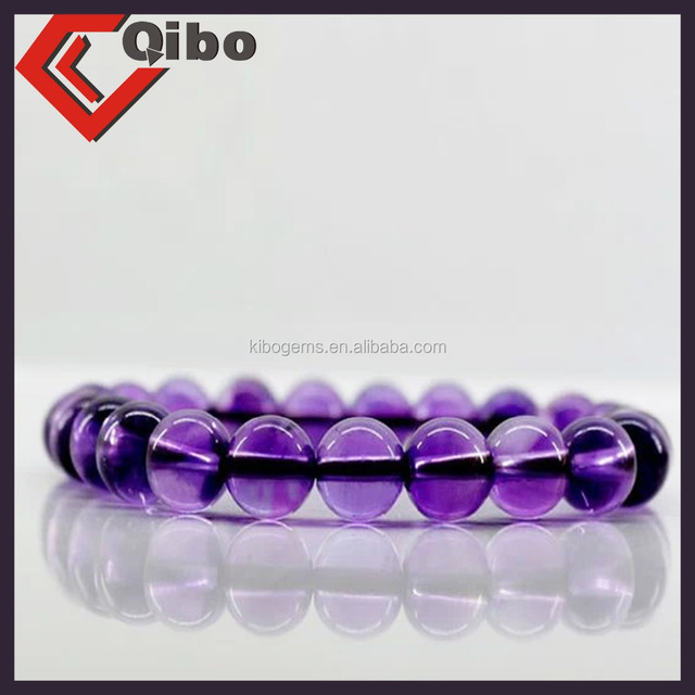 6mm, 8mm purple poblished jewelry natural stone loose gemstone amethyst quartz Bracelets for women