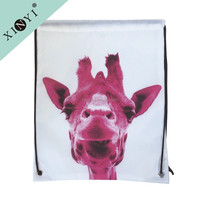 High quality wholesale cheap sport drawstring backpack polyester shopping bags sublimation drawstring bag