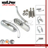 BJ-RM-376 oval-shaped billet aluminum chrome motorcycle rearview mirror for harley