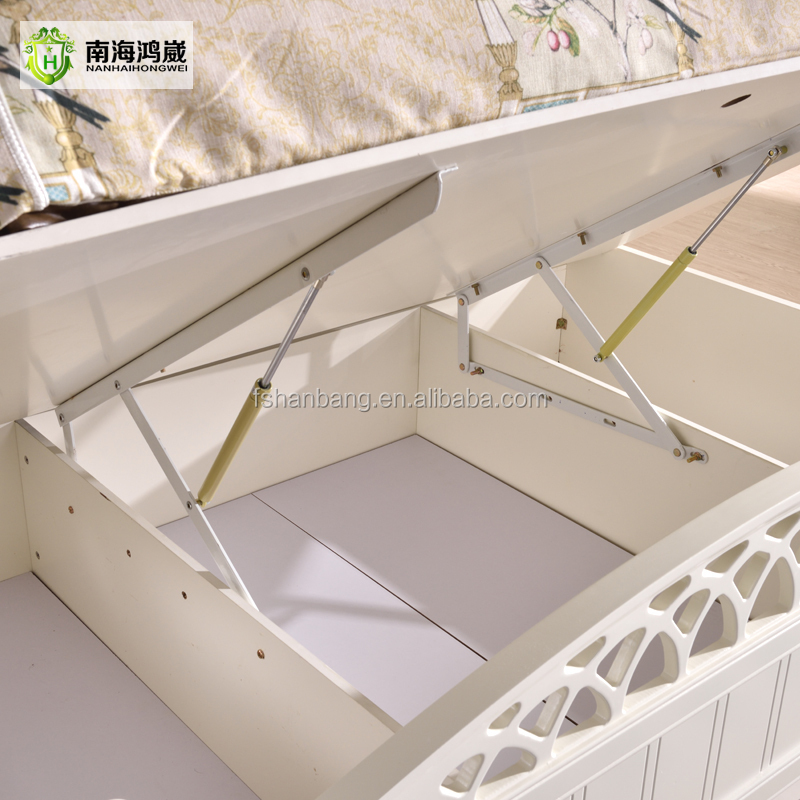 2016 latest storage bed furniture wooden double bed for Bed designs 2016